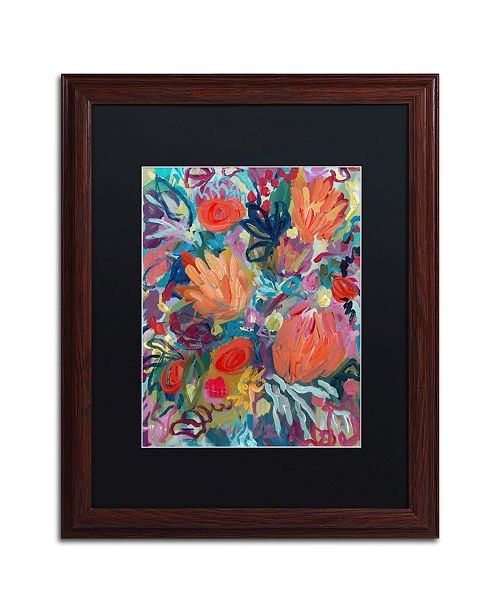 "Trademark Global Carrie Schmitt 'Mil Besos' Matted Framed Art - 16"" x 20"""