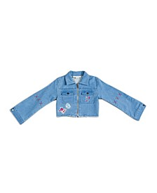 Big, Little, & Toddler Girls Patchwork French Terry Denim Jacket