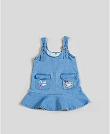 Big, Little, & Toddler Girls Flounced Skirt Overall