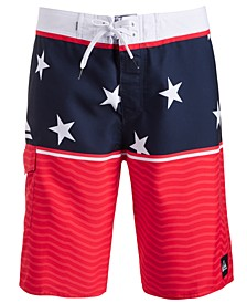 "Men's Colorblocked 18"" Board Short"