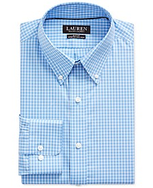 Polo Ralph Lauren Men's Slim-Fit No-Iron Checked Blue Dress Shirt
