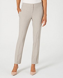 Melange Straight-Leg Pants