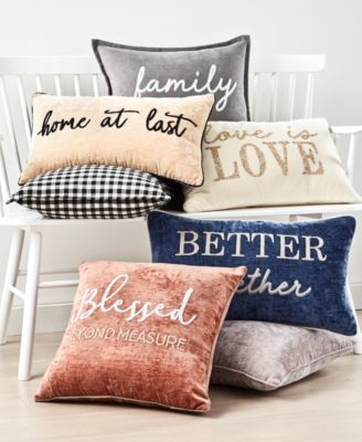 2-Pk. Home At Last Decorative Pillow Collection