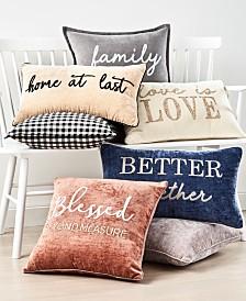 Lacourte Words Decorative Pillow Collection