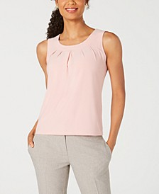 Petite Pleated-Neck Tank