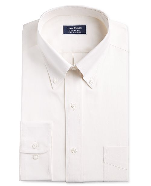 Club Room Men's Classic/Regular-Fit Stretch Oxford Solid Dress Shirt, Created for Macy's