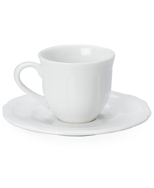 Mikasa Dinnerware, Antique White Espresso Cup and Saucer