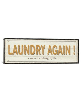 Laundry Again! by Pela Studio Gallery-Wrapped Canvas Print - 12
