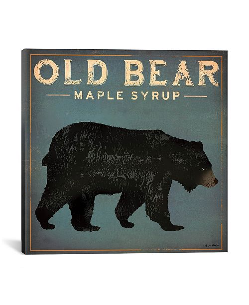 """iCanvas Old Bear Maple Syrup by Ryan Fowler Gallery-Wrapped Canvas Print - 26"""" x 26"""" x 0.75"""""""