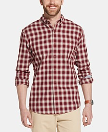 Men's Campside Classic-Fit Dobby Plaid Flannel Shirt
