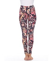 e05d8e8c19f385 White Mark Women's One Size Fits Most Printed Leggings