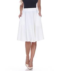 White Mark Saya Flare Skirt