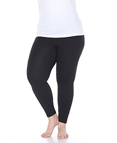 32d702a5a White Mark Women's Plus Size Super-Stretch Solid Leggings