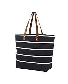 Cathy's Concepts Personalized Large Striped Tote