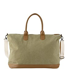 Personalized Washed Canvas Weekender Tote
