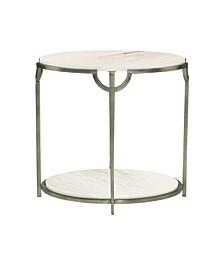 Morello Oval Metal End Table
