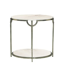 Bernhardt Morello Oval Metal End Table