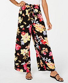 Juniors' Floral-Print Soft Pants
