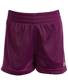 Champion Toddler & Little Girls Striped Mesh Shorts