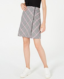 Zipper-Detail Plaid Skirt, Created for Macy's