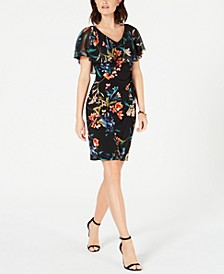 Petite Floral Chiffon Popover Dress