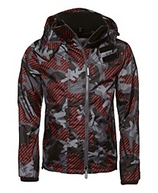 Hooded Technical Print Pop Zip Sd-Windcheater