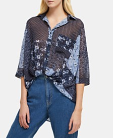 French Connection Patchwork Floral Shirt