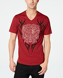 INC Men's Rhinestone Lion T-Shirt, Created for Macy's