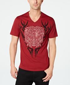 I.N.C. Men's Rhinestone Lion T-Shirt, Created for Macy's