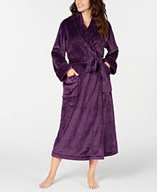 Women's Plush Long Robe, Created for Macy's