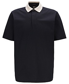 BOSS Men's Pack 16 Contrast-Collar Cotton Jersey Polo Shirt