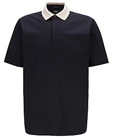BOSS Men's Pack 16 Contrast-Collar Cotton Jersey Polo Shirt