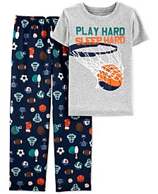 Little & Big Boys 2-Pc. Sleep Hard Pajama Set