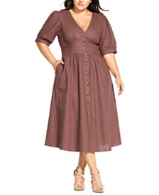 City Chic Trendy Plus Size Sunset Stroll Dress