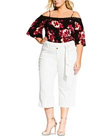 Trendy Plus Size Classic Crop Jeans