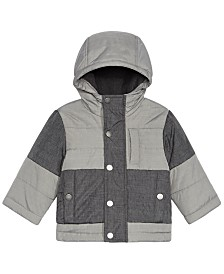 S Rothschild & CO Baby Boys Colorblocked Melange Hooded Jacket