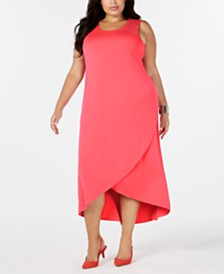 Alfani Plus Size Tulip-Hem Dress, Created for Macy's