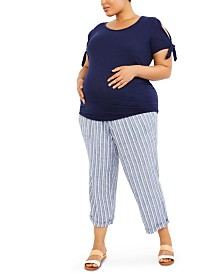 Motherhood Maternity Plus Size Under-Belly Pants