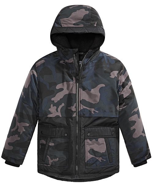 Big Boys Camo Print Snorkel Jacket