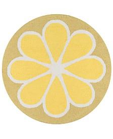Novogratz Cucina Cna-1 Yellow 3' x 3' Round Area Rug