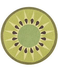 Novogratz Cucina Cna-2 Green 3' x 3' Round Area Rug