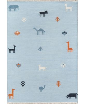 "Thompson Tho-2 Porter Blue 2'3"" x 8' Runner Area Rug"