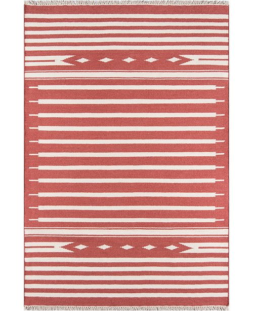"Erin Gates Thompson Tho-1 Billings Red 3'6"" x 5'6"" Area Rug"