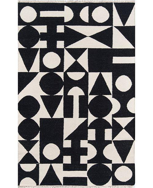 Novogratz Collection Novogratz Topanga Top-3 Black 2' x 3' Area Rug