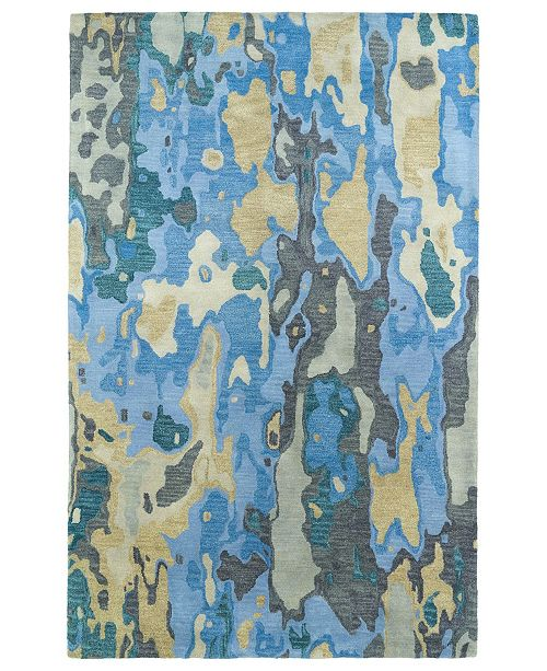 "Kaleen Brushstrokes BRS05-17 Blue 9'6"" x 13' Area Rug"