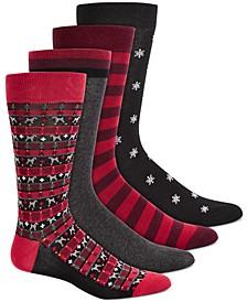 Men's 4-Pk. Printed Socks, Created for Macy's