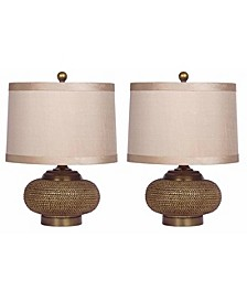 Azura Beaded Lamp, Set of 2