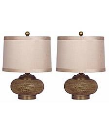 Azura Beaded Lamp, Set of 2