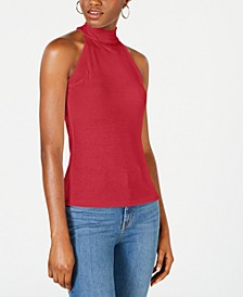 Mock Neck Ribbed Tank Top, Created for Macy's