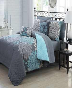 Amber 7-Pc. Reversible Twin Quilt Set